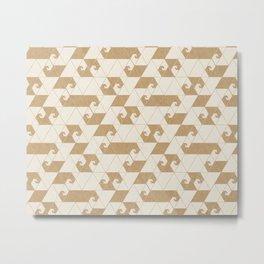 Fractal Wave L Metal Print