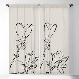 Magnolia Bloom Blackout Curtain