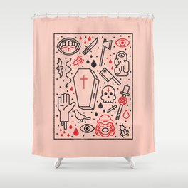 Good Clean Horror Shower Curtain