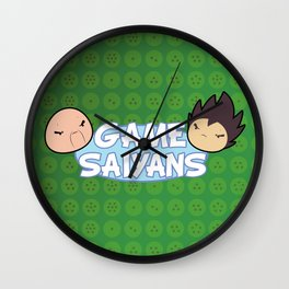 Two Saiyans Play (Game Grumps Style)  Wall Clock