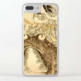 Utagawa Toyokuni Magician With A Giant Toad Clear iPhone Case