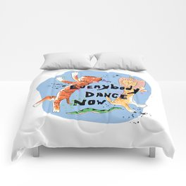 Everybody Dance Now! Lion, Tiger, Snake Jungle Dance Party Comforters