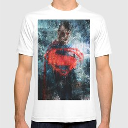 Superman Stare - Wall Art, Print, Home Decor, Dorm Decor, Impressionism, Painting T-shirt