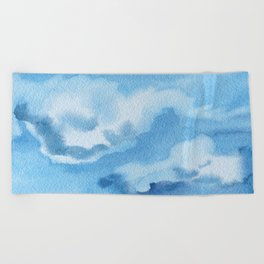 Up in the clouds Beach Towel