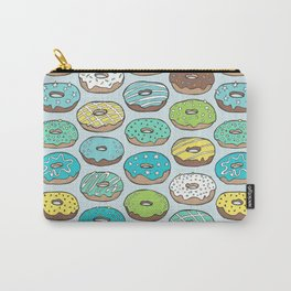 Donuts in Blue Carry-All Pouch