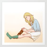 luna lovegood Art Prints featuring Luna Lovegood by zeina