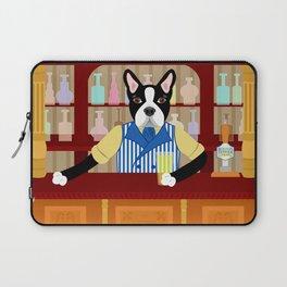 Boston Terrier Beer Pub Laptop Sleeve
