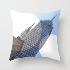 Two Towers Throw Pillow