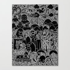 Oodles of Doodles of Singapore (Black) Canvas Print