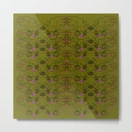 Luxury ornaments brown Waves Metal Print