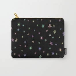 Colored Sparkling Stars Carry-All Pouch