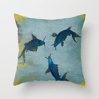 koi Throw Pillows featuring Koi  by Saundra Myles