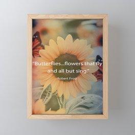 Sunshine Butterflies Framed Mini Art Print