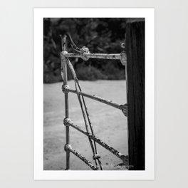SHUT THE GATE Art Print