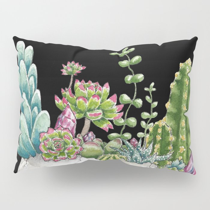 """""""Garden of Thought"""" - Skull and Flowers Pillow Sham"""