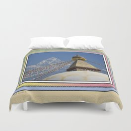 BOUDHANATH AND MACHAPUCHARE NEPAL COMPOSITE Duvet Cover