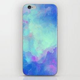 Watercolor abstract art iPhone Skin