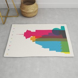Shapes of Vancouver. Accurate to scale. Rug