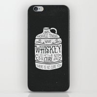 whiskey iPhone & iPod Skins featuring WHISKEY by magdam