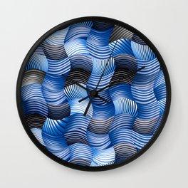 Les stores bleus Wall Clock