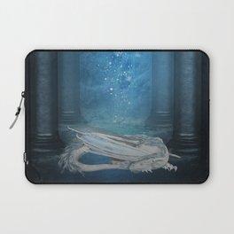 Awesome sleeping ice dragon Laptop Sleeve