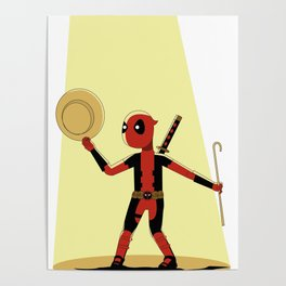 Dead-pool bajo luces Poster