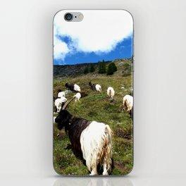 Swiss Goats on the way from Zermatt iPhone Skin