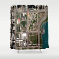 chicago Shower Curtains featuring Chicago by Mark John Grant