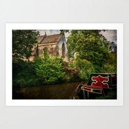 Church By The Oxford Canal Art Print