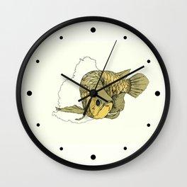 Gold Arowana Wall Clock