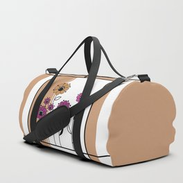Floral applique , retro Duffle Bag