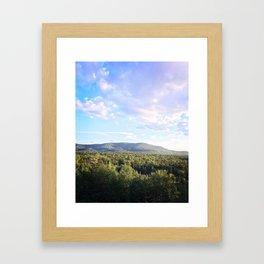 Beautiful Clouds in the Adirondacks Framed Art Print