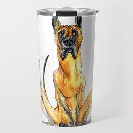 Great Dane and Chihuahua Travel Mug