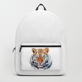 Tiger Head watercolor Backpack