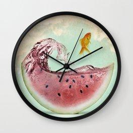 watermelon goldfish 02 Wall Clock