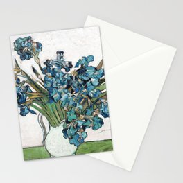 Vincent Van Gogh - Irises (new color editing) Stationery Cards