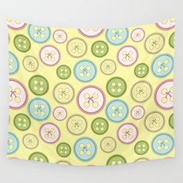 Buttons Wall Tapestry