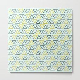 Textured triangles repeat pattern Metal Print