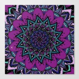 Mandala purple By Sonia H. Canvas Print