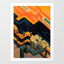 """The Scream"" isometric version Art Print"