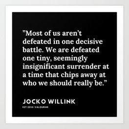 10  | Jocko Willink Quotes | 191106 Art Print