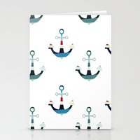 anchors Stationery Cards featuring Anchors by Zen and Chic