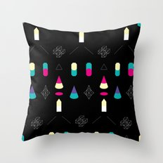 Play on Black Throw Pillow