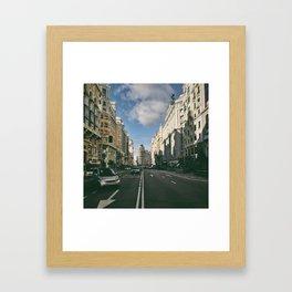 Gran Via Framed Art Print