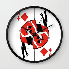 Sawdust Deck: The Queen of Diamonds Wall Clock
