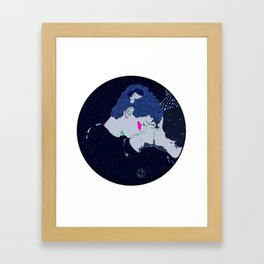 It all began with a kiss Framed Art Print