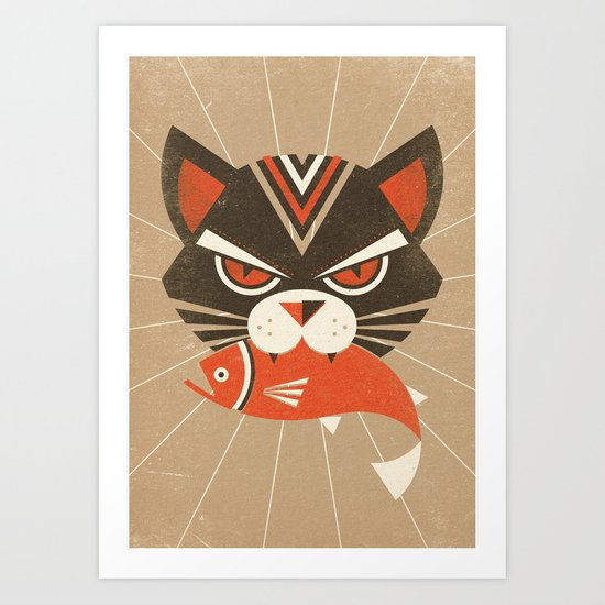 The Demon Cat (Fairy and Folk Tales of the Irish Peasantry) Art Print