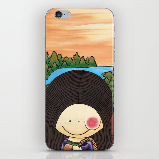 Little Mona Lisa - Reinterpretation for (Mona Lisa - Leonardo Da vinci), Art for kids iPhone & iPod Skin