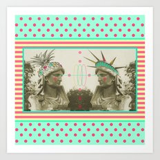 Pineapple architecture 3 : statue of liberty Art Print