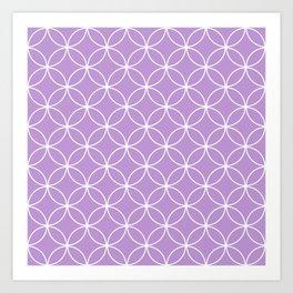 Crossing Circles - Periwinkle Purple Art Print